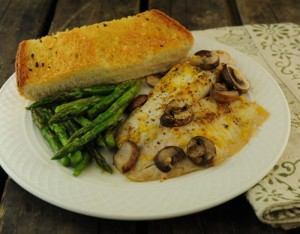 Fish with Mushrooms and Italian Herbs