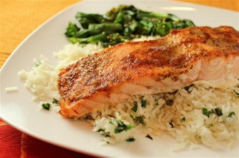 broiled-salmon-w-mustard-soy-crust by Linda Wolpert