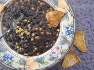 Soup-er Easy Black Bean and Corn Soup