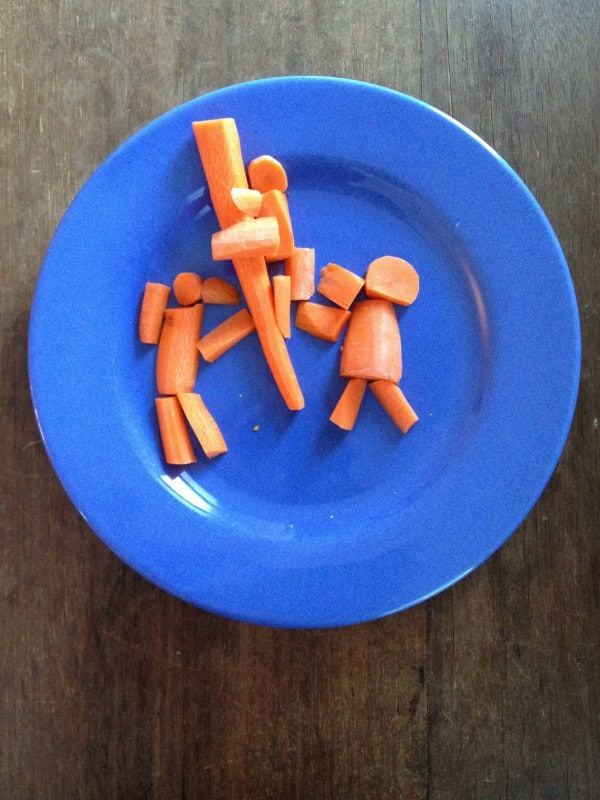 food art with carrots