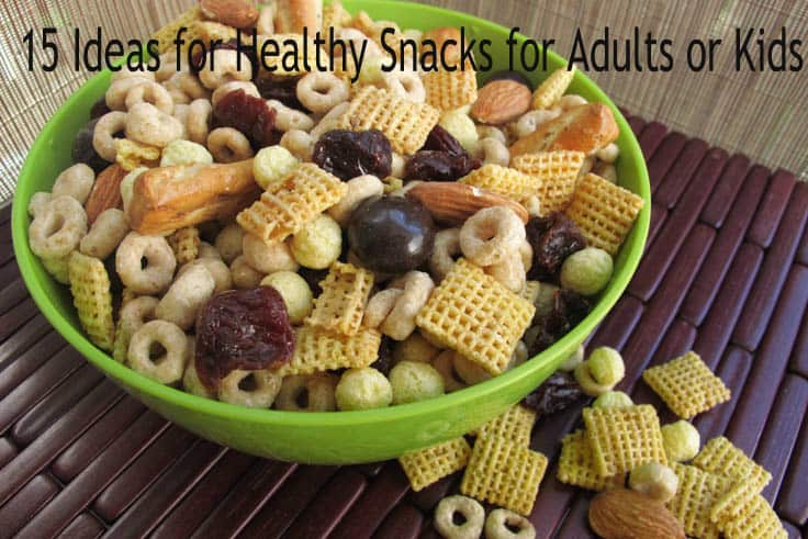 15 Ideas for Healthy Snacks for Adults or Kids