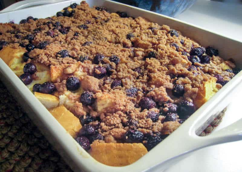 Overnight Baked Blueberry French Toast