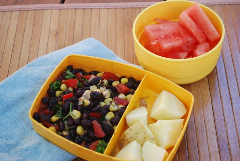 Black Bean and Corn Salad Lunch