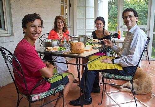 Goldfarb family dinner August 2013
