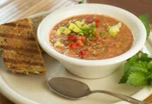 Classic Gazpacho with Diced Avocado
