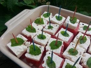 Watermelon Feta Mint Cubes