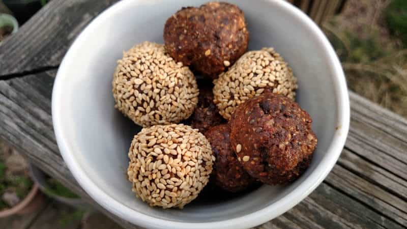 Fudgy Figgy Bites - how to use Cacao nibs