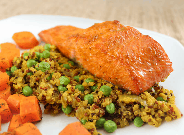 Indian Spiced Salmon.
