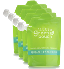 Little Green Pouch Reusable Food Pouches - 4-pack of 7oz pouches