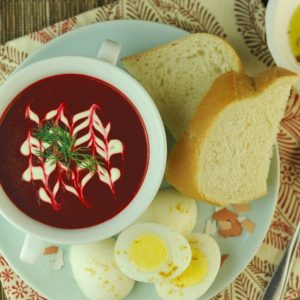 We got the beet soup