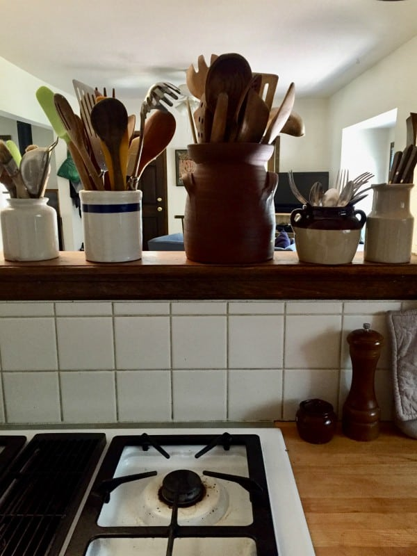Cooking Utensils Near Stove