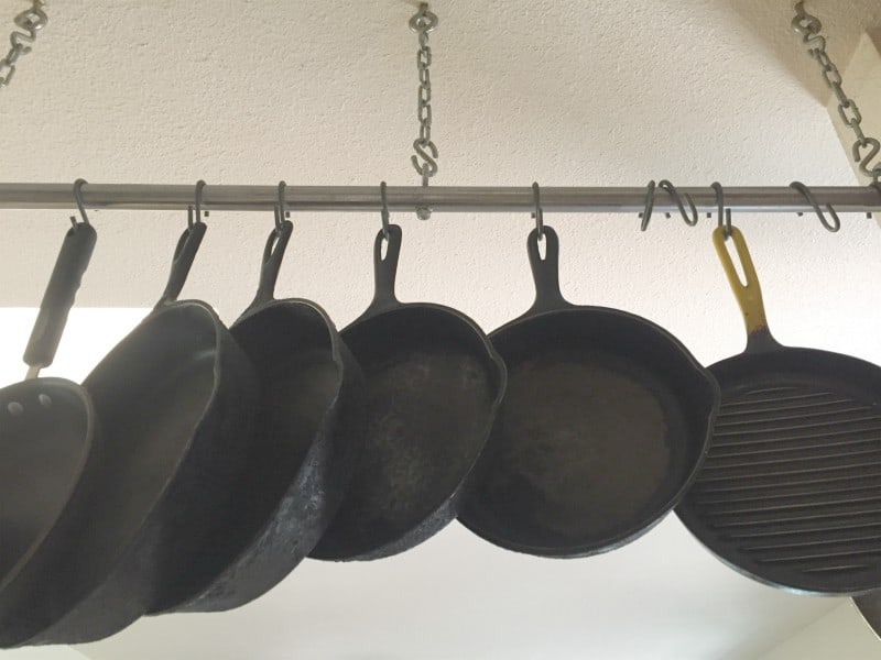 Hanging Pots and Pans to Organize Kitchen