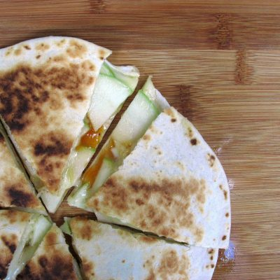 Apple and Brie Quesadillas with Mango Chutney