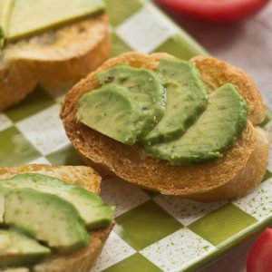 Avocado Garlic Toasts