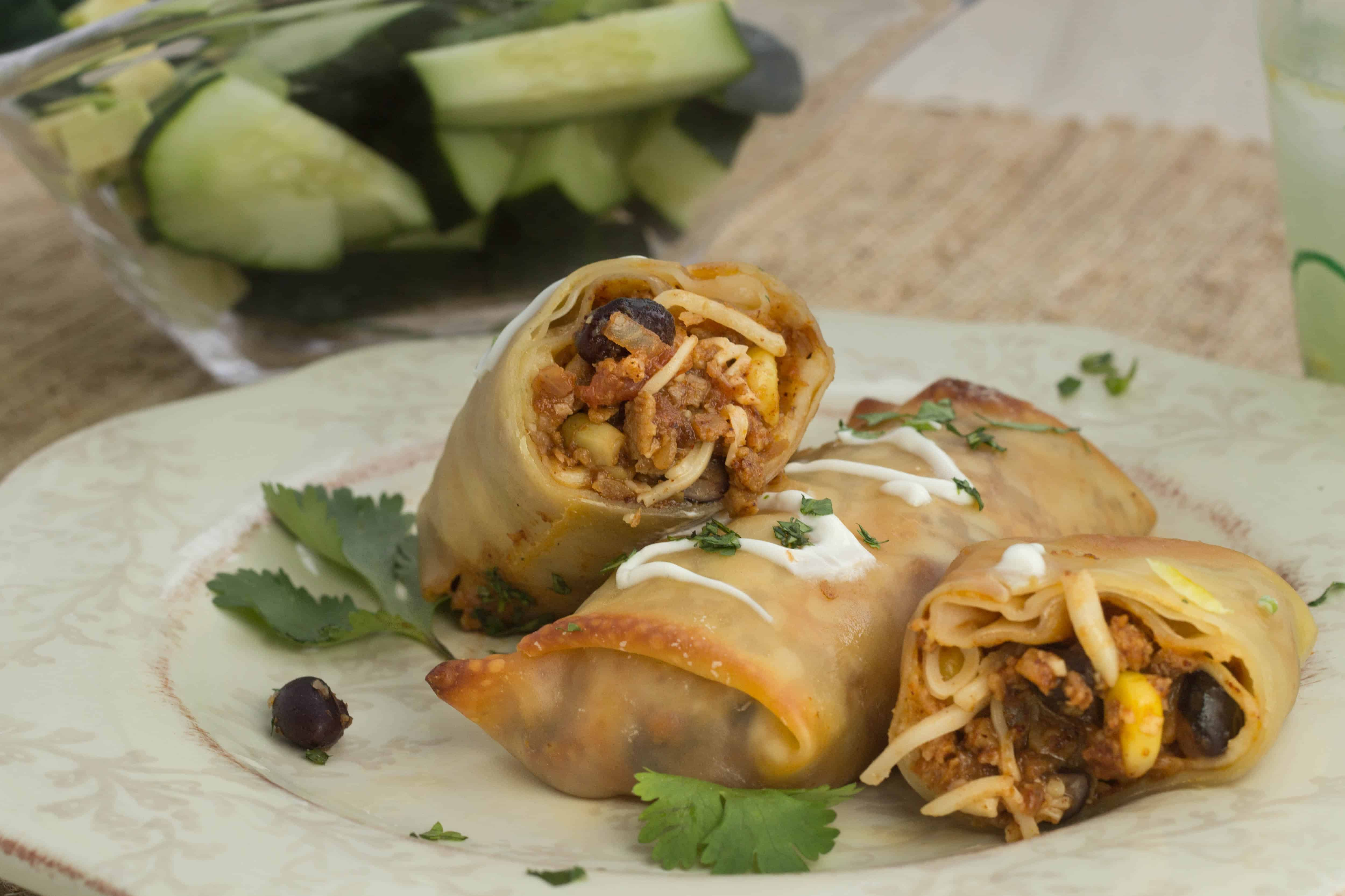 Baked Mexican Egg Rolls