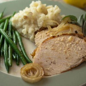 Baked Turkey Breast with Onions and Sage