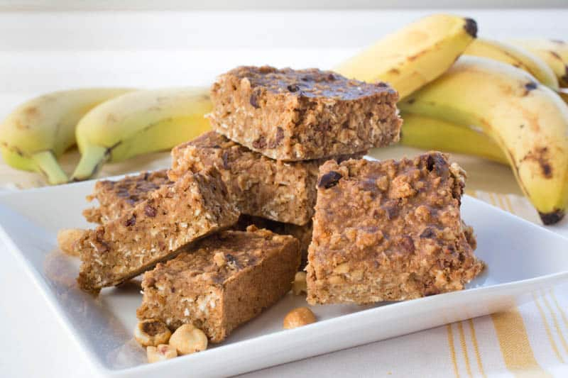 Banana Oatmeal Almond Bars
