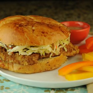 Cajun Fish Sandwiches with Crunchy Slaw