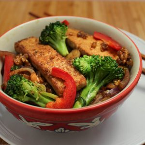 Caramelized Tofu and Broccoli Stir Fry