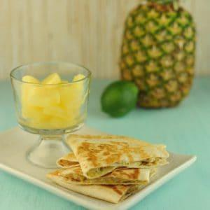 Quesadillas with Lime Pesto