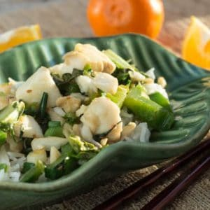 Chinese Stir-Fried Fish with Greens