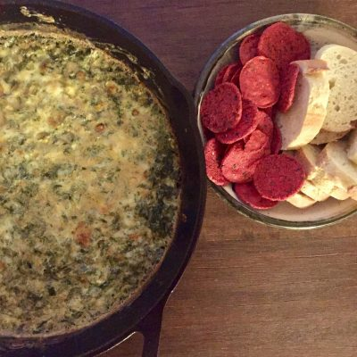 Creamy Indian-Spiced Spinach Dip