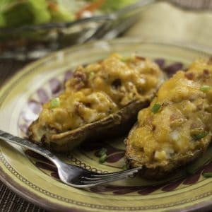 Crispy Stuffed Tex-Mex Potato Skins