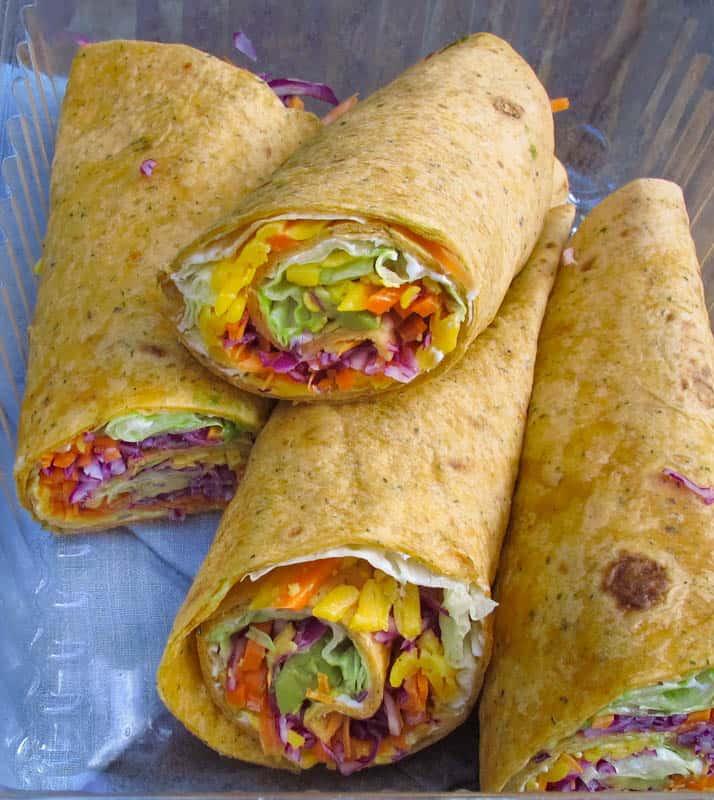 Crunchy Rainbow Wraps