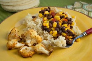 Cuban Black Beans and Rice with Sweet Corn