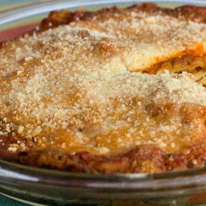 Eggplant Pie with Parmesan Crust