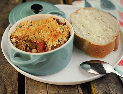 French Cassoulet with White Beans and Sausage KW
