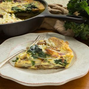 Frittata with Red Potatoes and Greens
