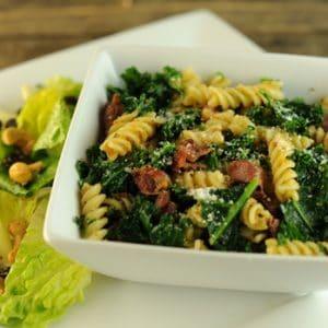 Fusilli with Prosciutto and Kale