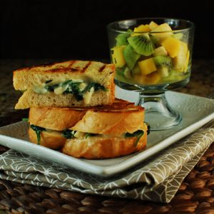 Grilled Cheese Melts with Brie and Baby Spinach