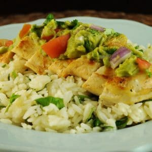 Grilled Lime Chicken with Avacado Salsa