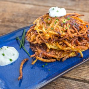 Indian Potato and Carrot Latkes