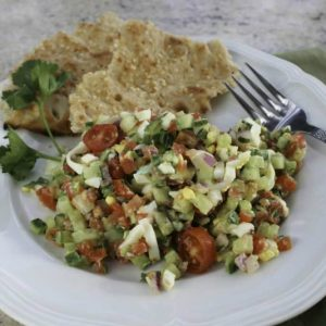Israeli Salad with Tahini Lemon Dressing