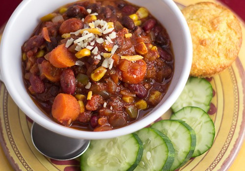 North of the Border Veggie Chili