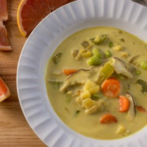 Pan-Asian Coconut Curry Soup