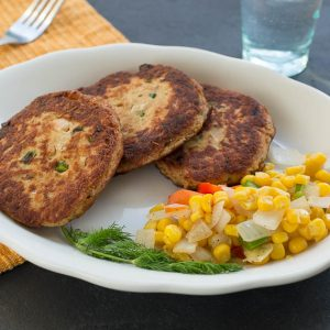 Pan-Browned Salmon Cakes