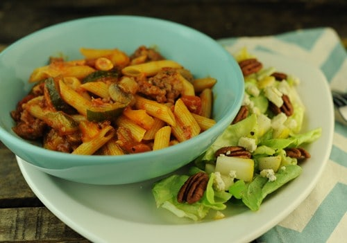 Penne Rigate with Garden Vegetables