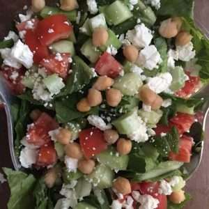 Persian Green Salad with Chickpeas and Mint