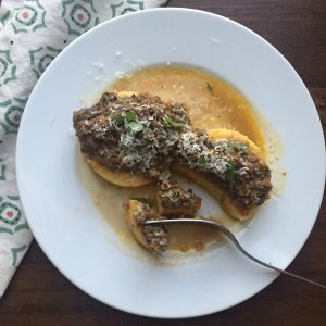 Polenta with Mushroom Bolognese