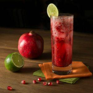 Pomegranate Raspberry Fizz