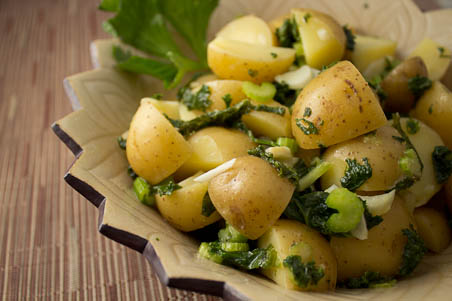 Potato and Kale Salad with Dijon Vinaigrette