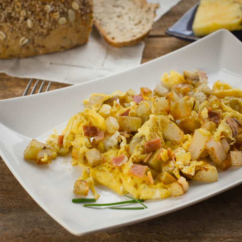 Potato and Prosciutt Scramble