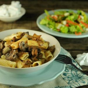 Rigatoni with Mushrooms, Marsala, and Marscapone