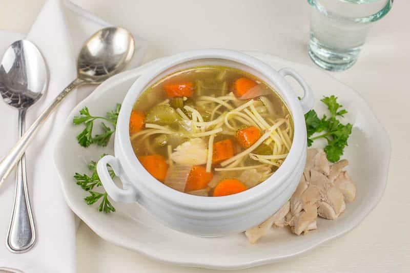 Slow Cooker Whole Chicken Noodle Soup