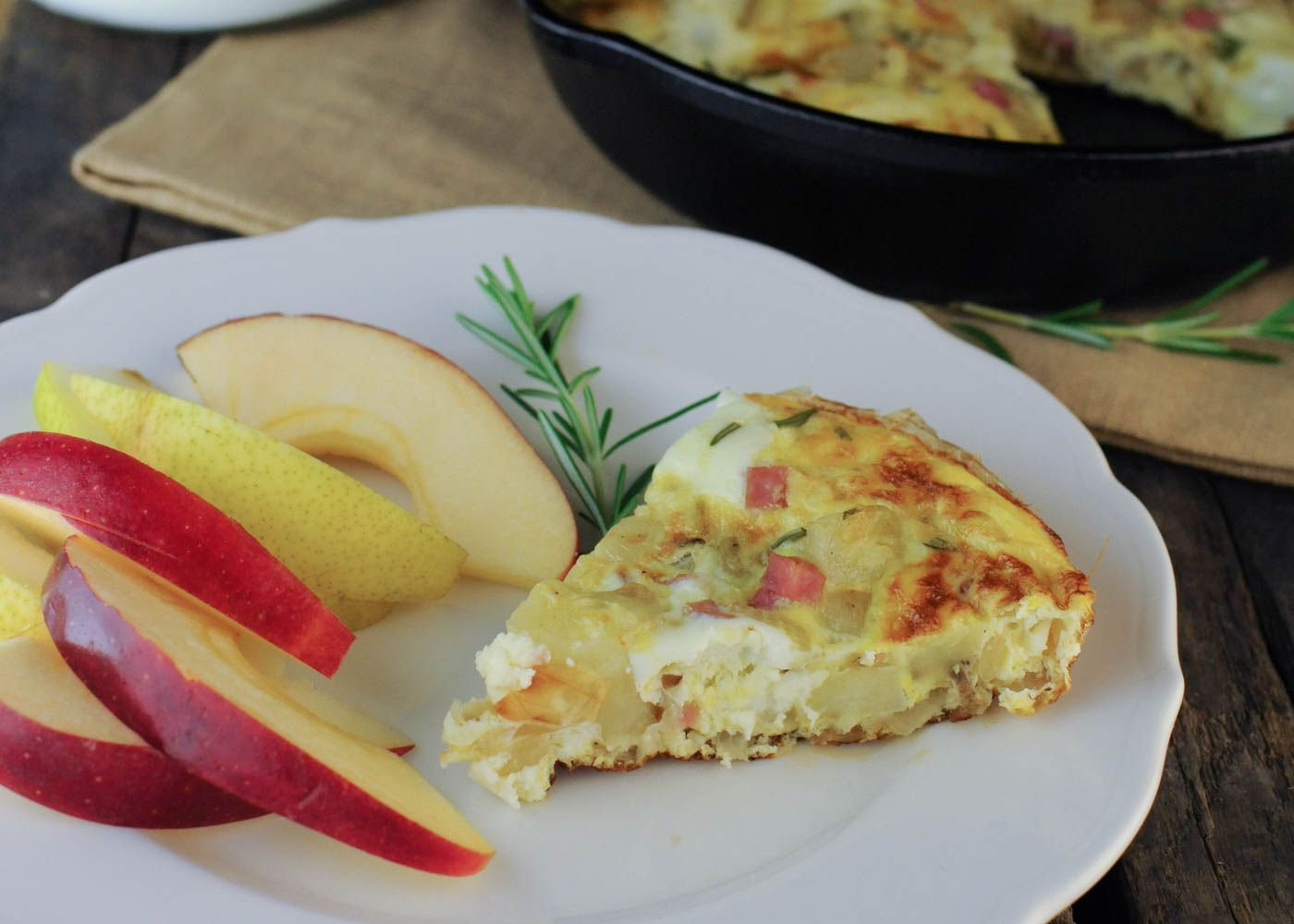 Spanish Oven Omelet with Diced Potatoes