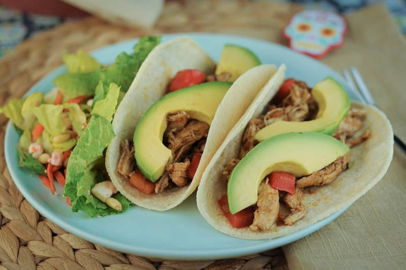 Spiced Chicken Soft Tacos